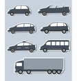 set of stickers with car image vector image