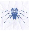Spider blot on crumpled paper vector image