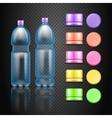 empty plastic water drink bottles with set vector image
