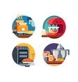 Kitchen appliances icons vector image