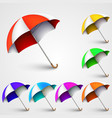 colored umbrellas vector image