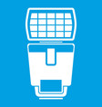 Lighting flash for camera icon white vector image