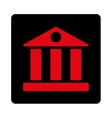 Bank flat intensive red and black colors rounded vector image