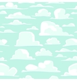 Seamless background with cartoon clouds vector image vector image