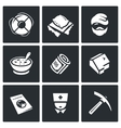 Set of Homeless Icons Help Homelessness vector image vector image