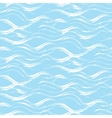 Acrylic paint wave strokes seamless pattern vector image