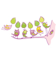 birds cartoons vector image