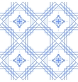 Blue and white geometric line seamless pattern vector image