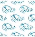 Blue ocean waves seamless pattern vector image