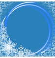 Christmas background with neon ring vector image