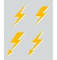 Set of four lightnings vector image
