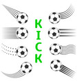 soccer ball set vector image