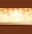 wood table top brown bokeh abstract vector image