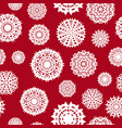 seamless background from a set of snowflakes vector image
