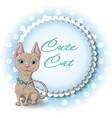 cute cat sphinx vector image