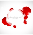 Abstract red background with circles vector image vector image