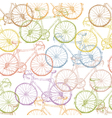 seamless multi colored bicycles vector image