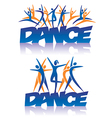 Dance sign with dance icons vector image