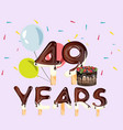 49 years happy birthday card vector image