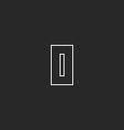 Letter O monogram logo geometric line graphic vector image