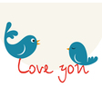 Beautiful birdie in love vector image