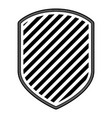 emblem with striped in monochrome silhouette vector image