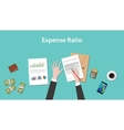 expense ratio with paperworks vector image
