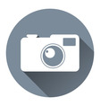 Hipster Photo Camera Icon Flat Design Style Circle vector image