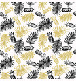 modern seamless pattern with pineapples and palm vector image