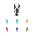 of zoo symbol on lobster icon vector image