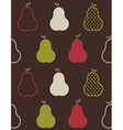 Retro colorful pears pattern vector image