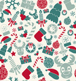 Seamless Christmas background Retro colors vector image
