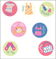 Girl badges vector image vector image