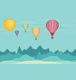 flat design hot air balloon in the sky vector image