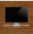 Glass Shelf With Computer vector image