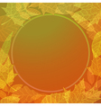 Colourful autumn background vector image