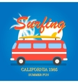 California surfing typography vector image