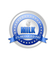 Milk badge vector image vector image