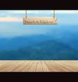 Mountain view summer landscape vector image