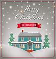 A cozy Christmas house vector image vector image