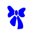 blue bow sign 811 vector image