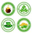 four leaf clover stamps vector image