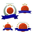 the theme basketball vector image