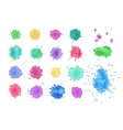 Watercolor blots isolated vector image
