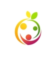 healthcare family logo fun and wellness family vector image