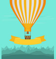 flat balloon vector image