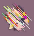 abstract retro design vector image vector image