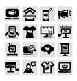 advertising and marketing icons vector image vector image
