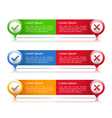 Banners with Check and Cross Symbols vector image vector image