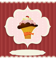 Vintage card with cupcake vector image vector image